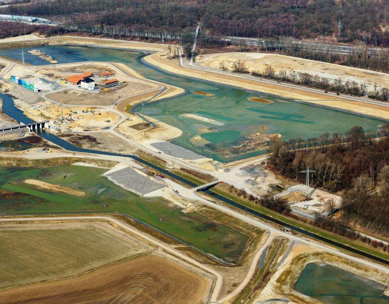Das neue Hochwasserrückhaltebecken