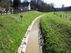 Der Borbecker Mühlenbach in Essen-Frohnhausen. Foto: Ilias Abawi.