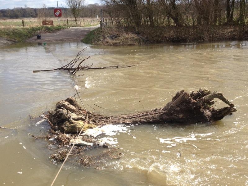 Ein seltener Fall: Hochwasser zu Ostern