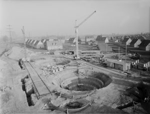 Bau der Kläranlage Bernemündung