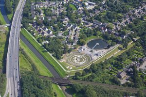 Der BernePark in Bottrop vereint Wassernutzung und Stadtentwicklung. Foto: Emschergenossenschaft
