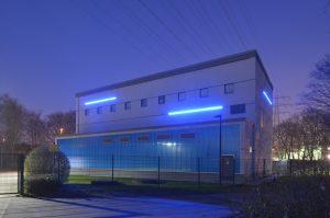 Das Gebäude des Pumpwerks Piekenbrocksbach der Emschergenossenschaft Am Südbahnhof 20 in Bottrop (NW), am Mittwoch (29.01.14). Das Gebäude des Pumpwerks Piekenbrocksbach der Emschergenossenschaft Am Südbahnhof 20 in Bottrop (NW), am Mittwoch (29.01.14).
