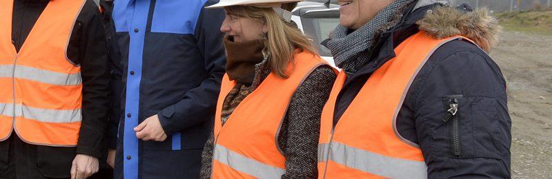 Französische Delegation besucht Baustelle