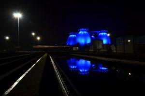 Auch die vier Faulbehälter der Kläranlage Bottrop sind bei der Aktion dabei. Foto: Ilias Abawi