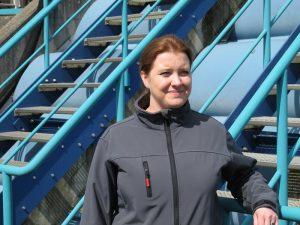Judith Mittelbach, seit 2007 Klärmeisterin auf der Kläranlage Bönen, hat schon ihre Ausbildung beim Lippeverband gemacht .