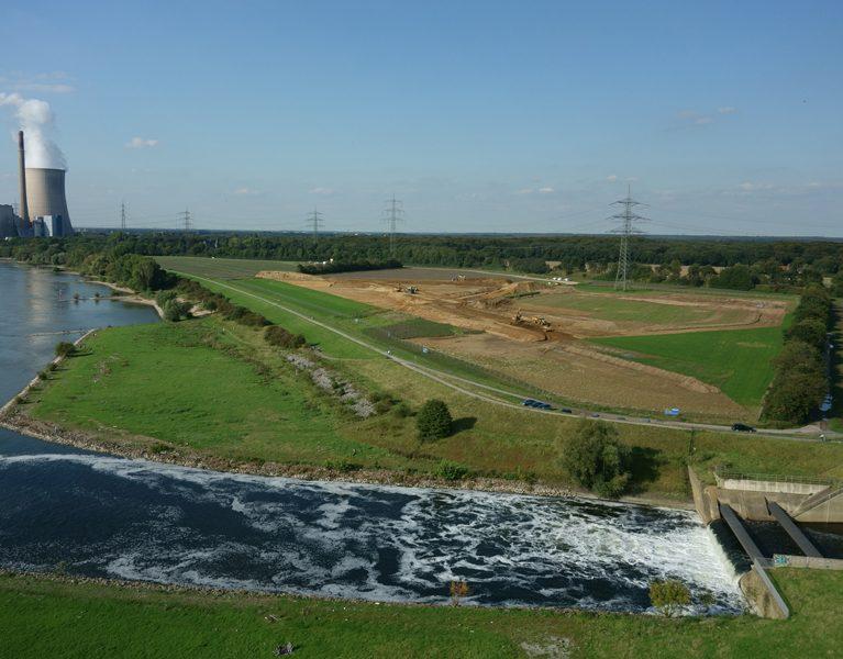 Hochwasserschutz an der neuen Emschermündung