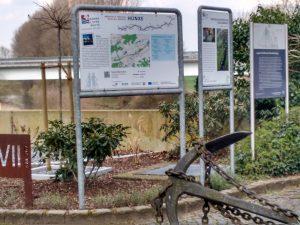 Durch Krudenburg führt die Römer-Lippe-Route - im Hintergrund der Fluss