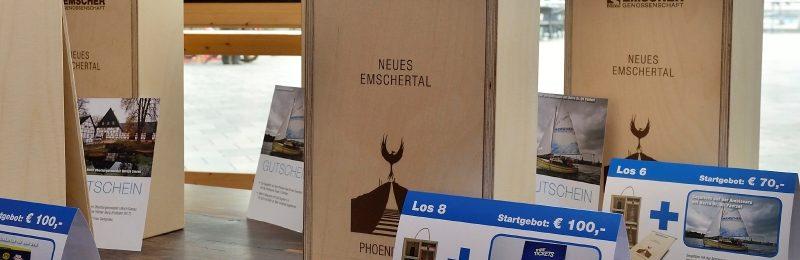 Edel verpackt und mit hochwertigen Zusatzangeboten kommt der Emscherwein 2015 unter den Hammer.