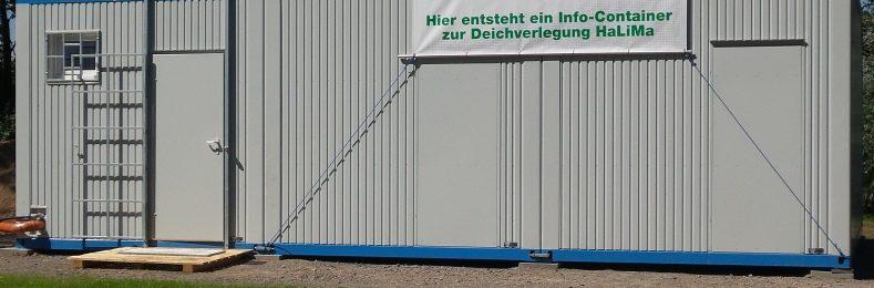 Der Info-Container zum Bauprojekt HaLiMa