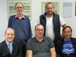 """Die """"Crew"""" v.l.n.r.: Gruppenleiter Rolf Kemper-Böninghausen, Holger Berning, Michael Kemper, Jörg Saborowski und Berthold Guttner"""