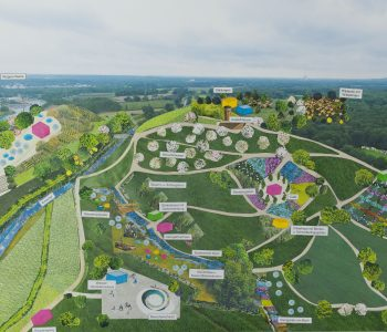 Der geplante Natur- und Wassererlebnispark am Wasserkreuz in Castrop-Rauxel/Grenze Recklinghausen
