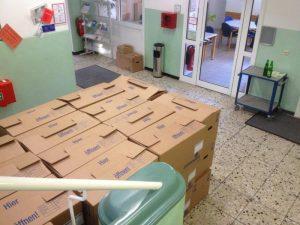 Die Umzugskartons sind schon gepackt, am 16. Dezember kommt der Möbelwagen.