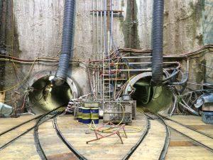 Zwei Tunnelbohrmaschinen übrigens deshalb, weil wir in Oberhausen eine Doppelrohrtrasse des AKE erstellen. Foto: Ilias Abawi