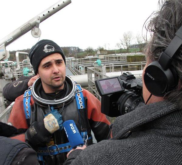 Noch ein kurzes Interview für den WDR.
