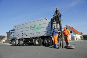 Gelegentlich fährt unsere Stadtentwässerung auch den großen Wagen zur Kanalreinigung vor. Foto: Stefan Kuhn/Lippeverband