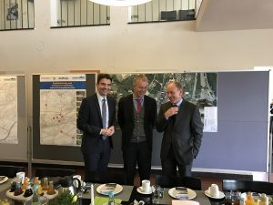 Uli Paetzel, Johannes Remmel und Bernd Tischler vor unserer Pressekonferenz in Bottrop. Foto: Ilias Abawi