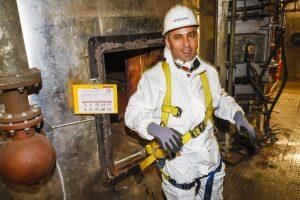 Heiß war es in der Verbrennungsanlage - dabei war sie noch nicht einmal in Betrieb... Foto: Rupert Oberhäuser
