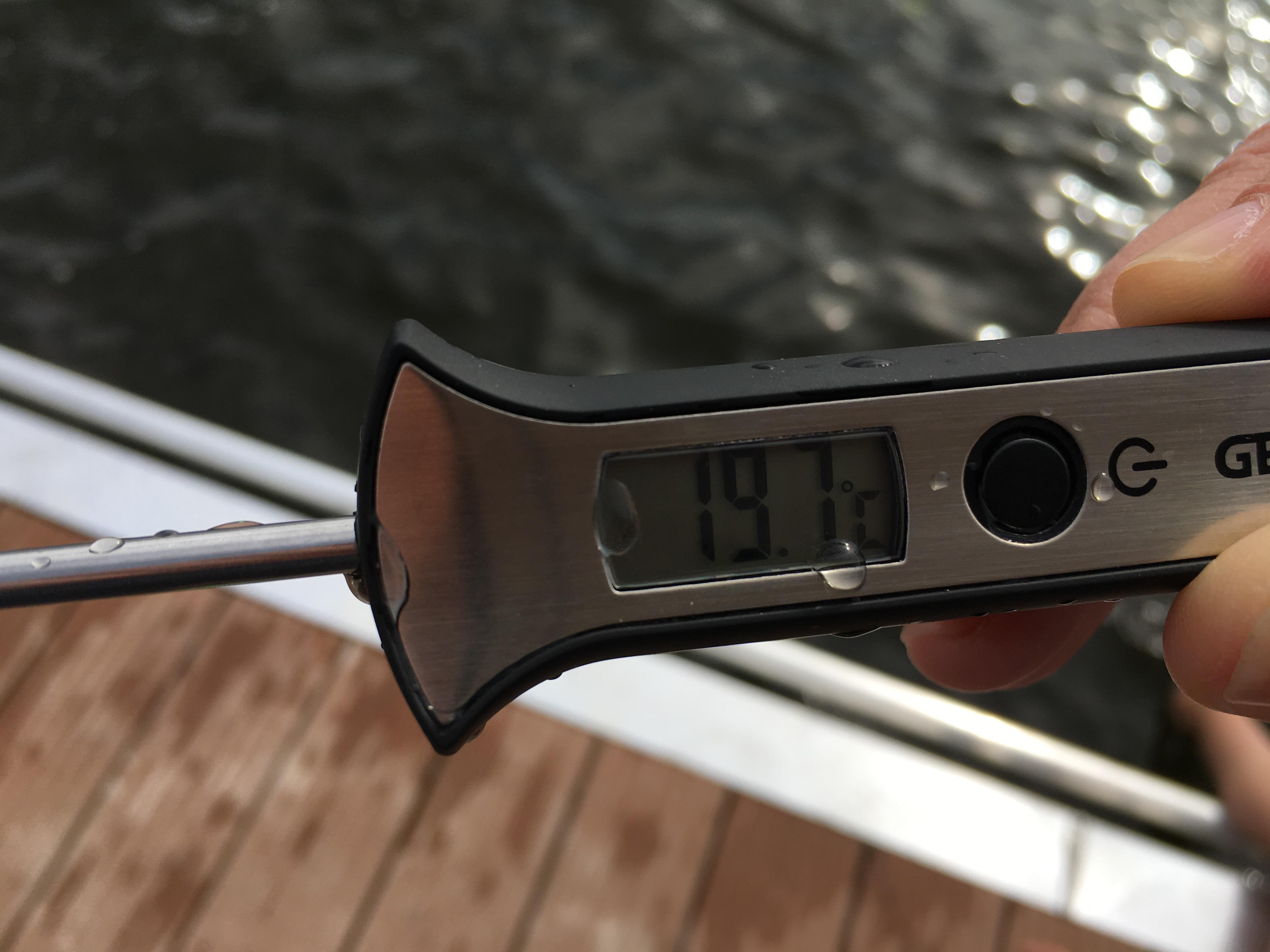 Wassertemperatur - erfrischend!