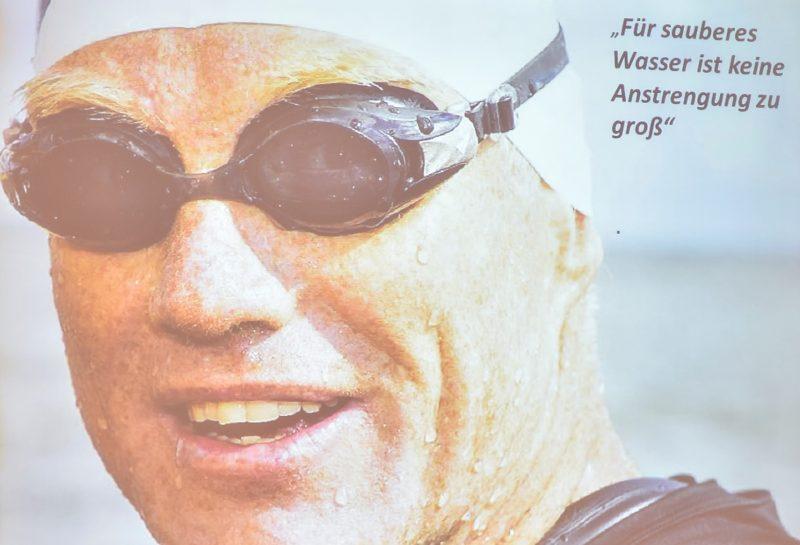 """Der """"Rheinschwimmer"""" Prof. Dr. Andreas Fath berichtete über seinen Schwimm-Marathon im Dienste der Wissenschaft."""