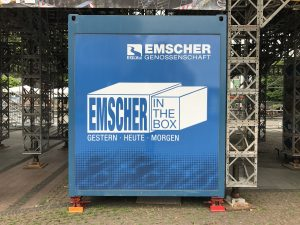 """Emscher in the box"". Foto: Ilias Abawi"