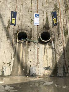 ... beiden Tunnel-Röhren des Abwasserkanals Emscher! Fotos: Ilias Abawi