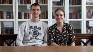 Yann Watson (l.) und Solène Pamart (r.) haben die vergangenen drei Monate bei den Verbänden verbracht.