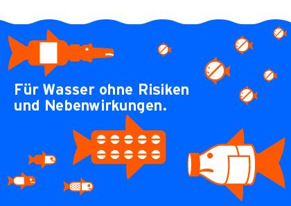 """Die Postkarte mit den """"Pillenfischen"""" spricht Schülerinnen und Schüler besonders an!"""
