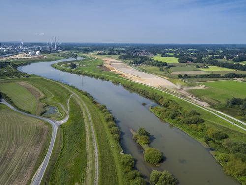 Deichbaustelle Haltern-Marl-Lippramsdorf aus der Luft gesehen (Foto: Markus Greulich)