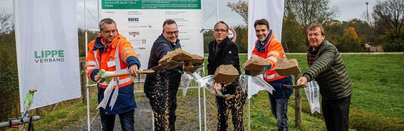 Von links nach rechts: Projektleiter Holger Gutt, Bodo Klimpel, Andre' Dora, Ulli Paetzel und Dr. Grün.