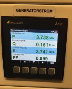 Kann sich sehen lassen: fast 4 MW Leistung! Foto: EG