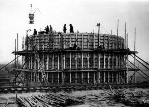 Die Kläranlage Lüdinghausen im Bau.