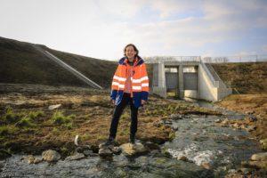 Maren Goldbec hat nicht nur den Marbach in Bochum vom Abwasser befreit, sondern auch das Hochwasserrückhaltebecken Goldhammer Bach in Wattenscheid gebaut. Foto: Rupert Oberhäuser/Emschergenossenschaft