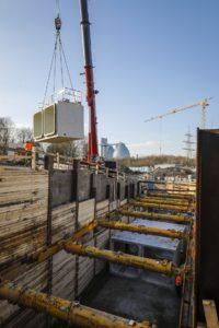 Offene Bauweise - im Hintergrund sind die Faulbehälter unseres Klärwerks Emschermündung in Dinslaken zu sehen!