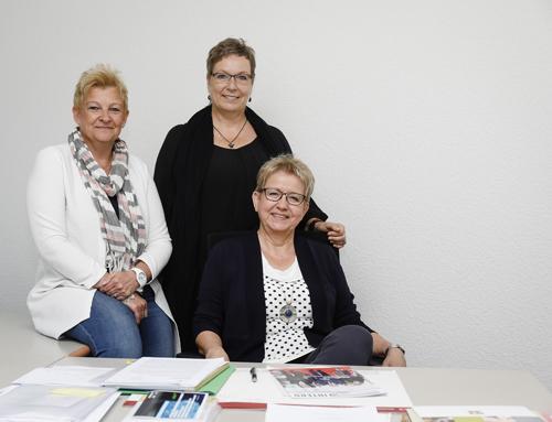 Die Gleichstellungsbeauftragten: Martina Fehlau, Angela Stüer und Ingrid Zenzen (v.l.n.r.). Foto: Rupert Oberhäuser/EGLV