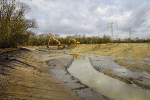 Im Rahmen der ersten Stufe der Renaturierung der Boye erhält der Fluss wieder einen mehr geschwungenen Verlauf. Foto: Rupert Oberhäuser/EGLV