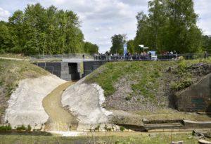 Der Hahnenbach erhielt eine neue Mündung in die Boye Foto: Kirsten Neumann/EGLV