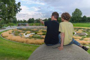 Früher ein Klärwerk: Heute ein beliebtes Ausflugsziel – Der Bernepark Foto: Gabi Lyko/EGLV