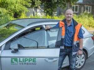 Für die Stadtentwässerung Hamm des Lippeverbandes unterwegs: Jürgen Ambos. Foto: Klaus Baumers/EGLV