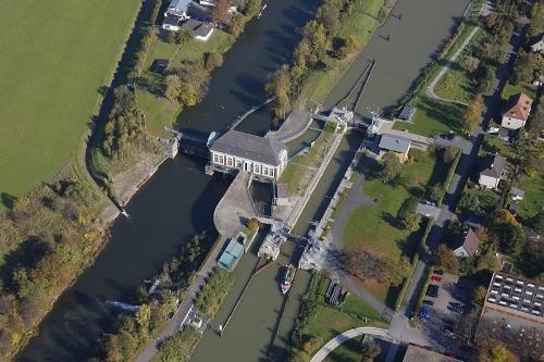 Die Wasserverteilungsanlage in Hamm sorgt für ausreichend Wasser in der Lippe und in den Schifffahrtskanälen. Foto: Hans Blossey/EGLV