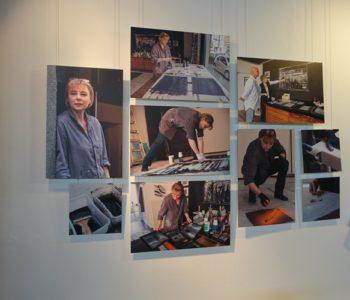 """Ausstellung """"Menschen im neuen Emschertal"""" in der Notkirche in Essen-Frohnhausen: Fotocollage zu Doreen Becker. Foto: Agnes Sawer/EGLV"""