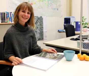 Unsere Kollegin Christina Pfeffer koordiniert das Projekt Emscherland 2020. Foto: Celina Winter/EGLV
