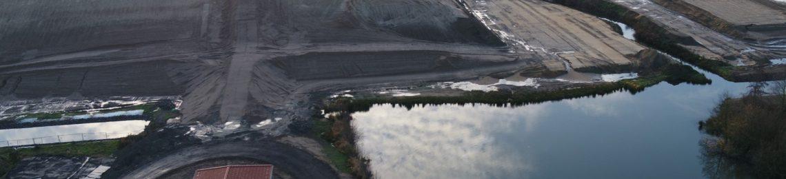 Luftaufnahme Pumpwerk-Meinken. Foto: EGLV / Vermessung