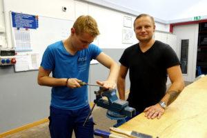 Mitte August kommen die neuen Azubis und dann kann Lukas Kramp mit dem Werksunterricht beginnen. Foto: Celina Winter/EGLV